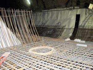Bild 20: Sohlbewehrung in Querschlag und Tunnel