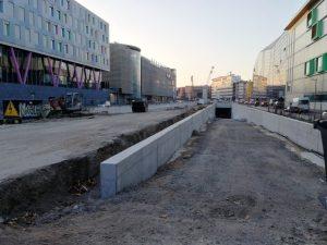 Künftige Zufahrt in den Straßentunnel (Ost)
