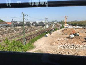 Ausblick vom Stellwerk Richtung Hbf