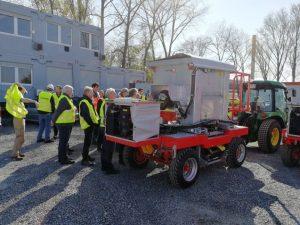Weinbaufahrzeuge für den Betontransport