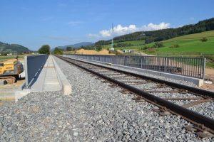 Bild 4: Brücke i.Z.d. Bahnstrecke ü.d. B 294 neu - Aufsicht