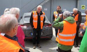 Bild 3: Begrüßungsworte auf der Baustelle durch Herrn Seifried von der Firma Storz