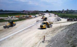 Bild 6: Erdarbeiten an der zukünftigen Anschlussstelle Schnetzenhausen